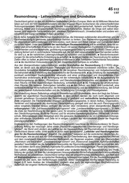 Raumordnung - Leitvorstellungen und Grundsätze