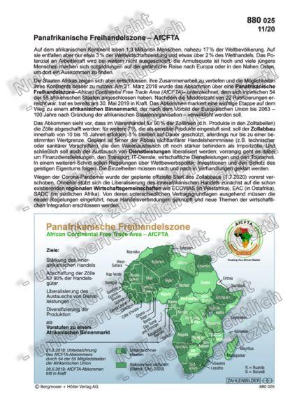 Panafrikanische Freihandelszone - AfCFTA