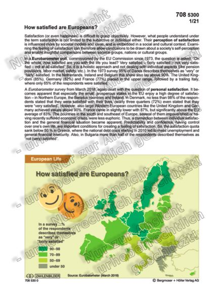 How satisfied are Europeans?