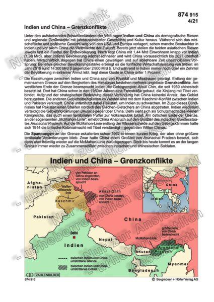 Indien und China – Grenzkonflikte
