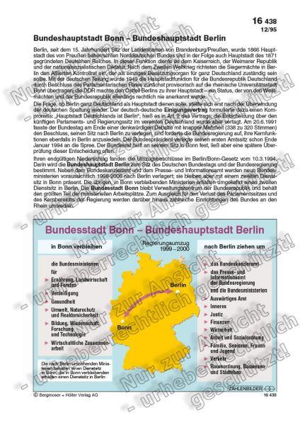 Bundesstadt Bonn - Bundeshauptstadt Berlin