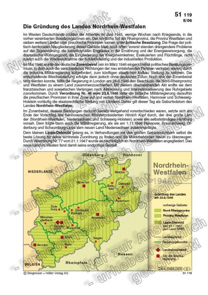 Die Gründung des Landes Nordrhein-Westfalen