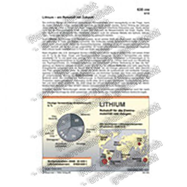 Lithium - Ein Rohstoff mit Zukunft