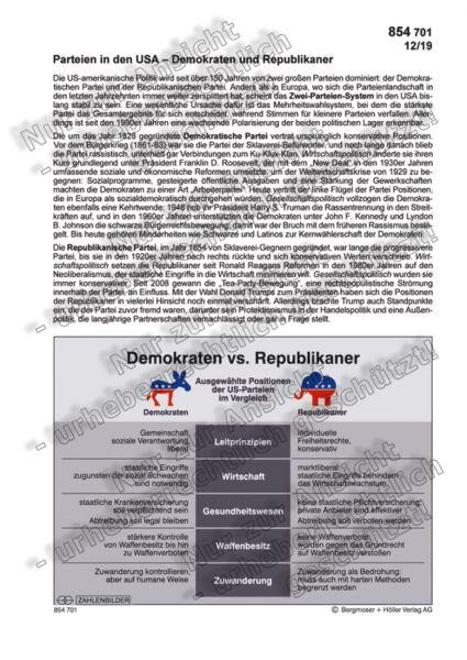 Parteien in den USA - Demokraten und Republikaner
