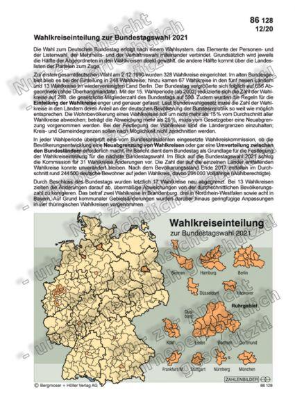 Wahlkreiseinteilung zur Bundestagswahl 2021