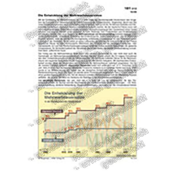 Die Entwicklung der Mehrwertsteuersätze