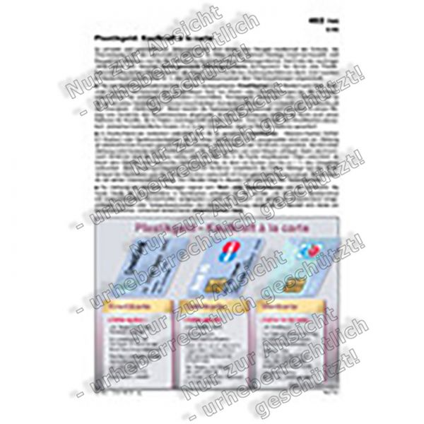Plastikgeld - Kaufkraft à la carte