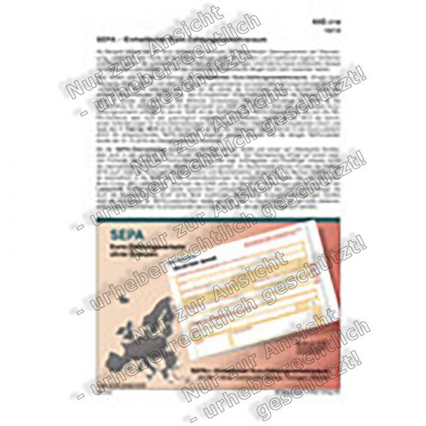 SEPA - Euro-Zahlungsverkehr ohne Grenzen