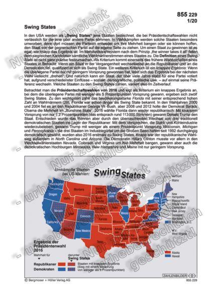 Swing States - Umkämpfte Staaten bei US-Wahlen