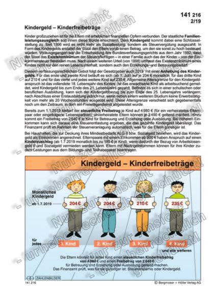 Kindergeld - Kinderfreibeträge