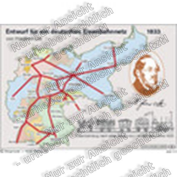 Entwurf für ein deutsches Eisenbahnnetz 1833