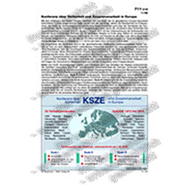 KSZE - Konferenz über Sicherheit und Zusammenarbeit in Europa