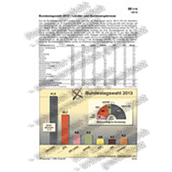 Bundestagswahl 2013 - Länder- und Bundesergebnisse