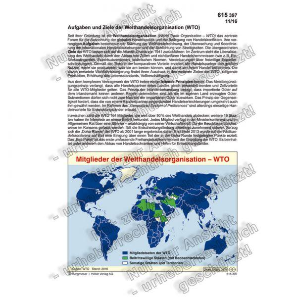 Aufgaben und Ziele der Welthandelsorganisation - WTO