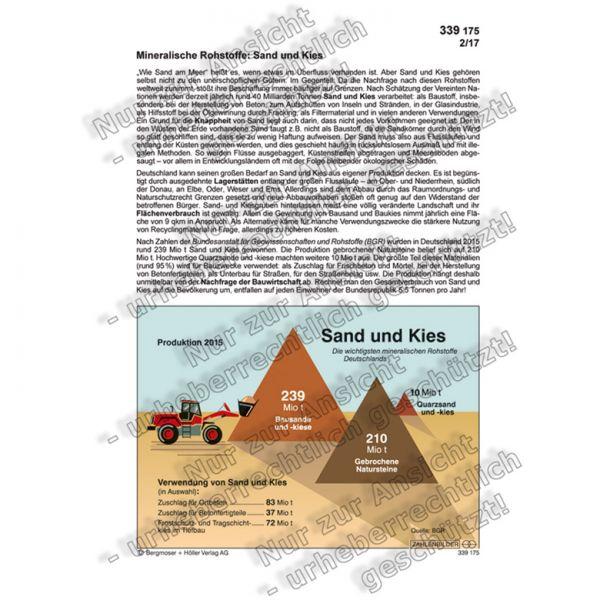 Mineralische Rohstoffe: Sand und Kies