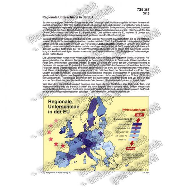 Regionale Unterschiede in der EU