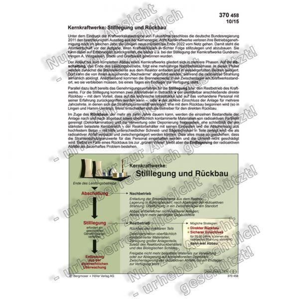 Kernkraftwerke: Stilllegung und Rückbau