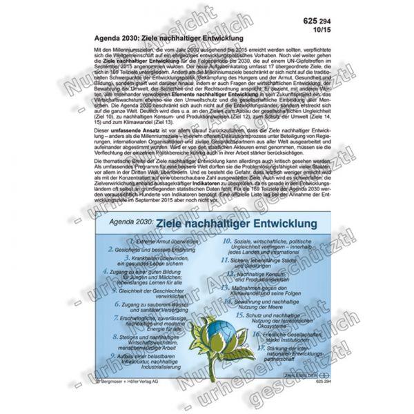 Agenda 2030: Ziele nachhaltiger Entwicklung