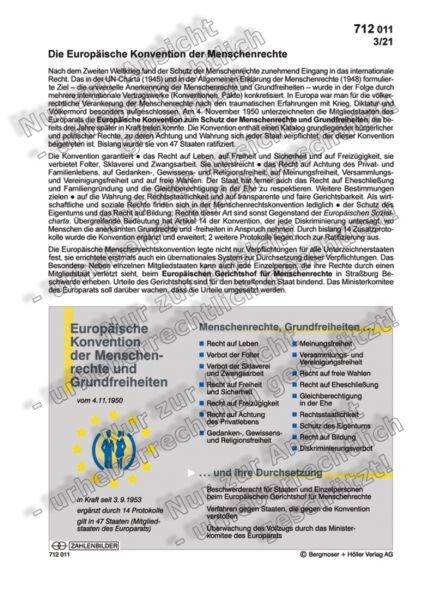 Europäische Konvention der Menschenrechte