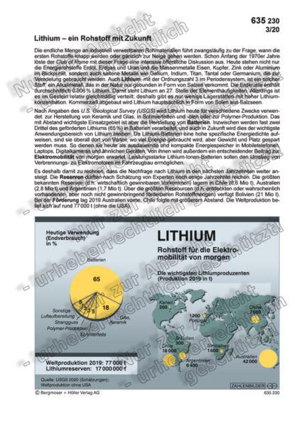 Lithium - Rohstoff für die Elektromobilität von morgen