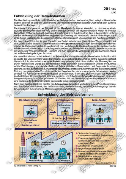 Entwicklung der Betriebsformen