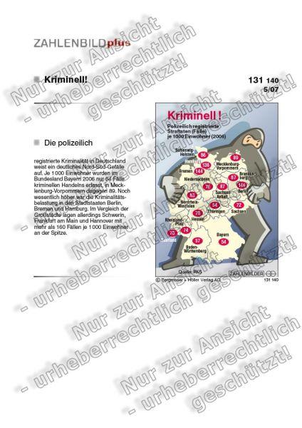 Kriminell! Polizeilich registrierte Straftaten in den Bundesländern