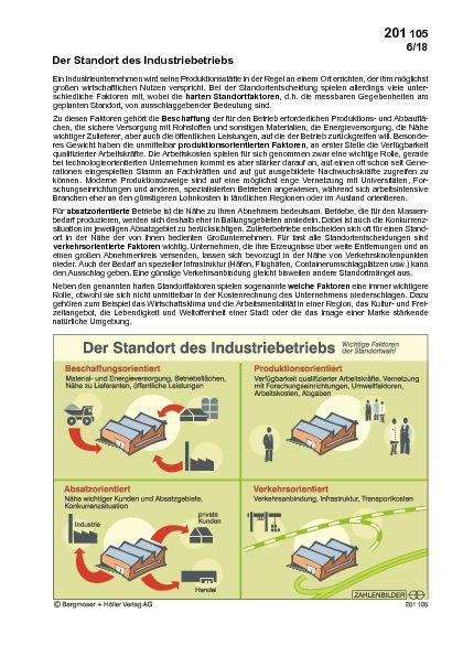 Der Standort des Industriebetriebes