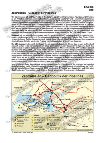 Zentralasien - Geopolitik der Pipelines