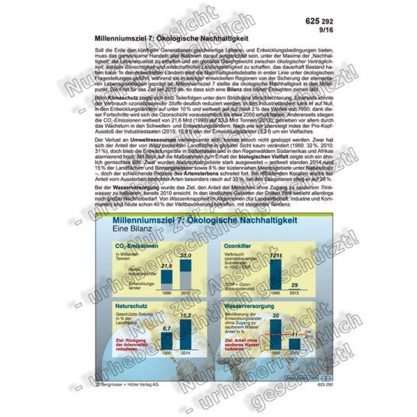 Millenniumsziel 7: Ökologische Nachhaltigkeit