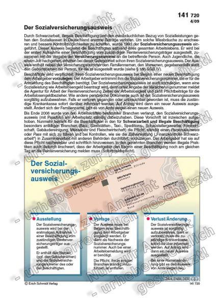 Der Sozialversicherungsausweis