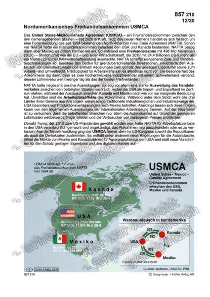 Nordamerikanisches Freihandelsabkommen USMCA