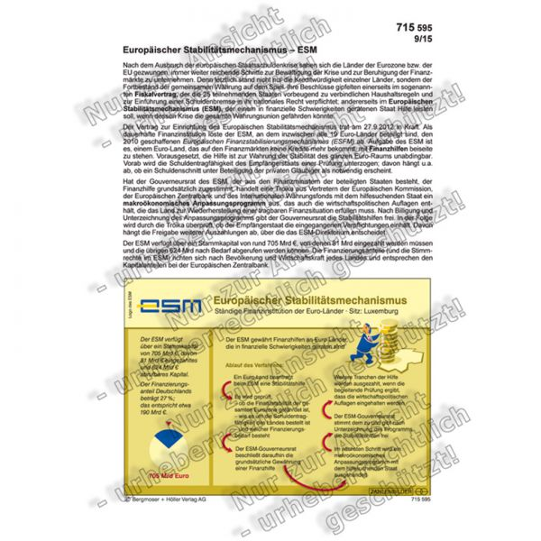 Europäischer Stabilitätsmechanismus - ESM