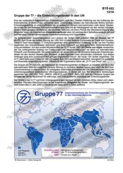 Gruppe der 77 - die Entwicklungsländer in den UN