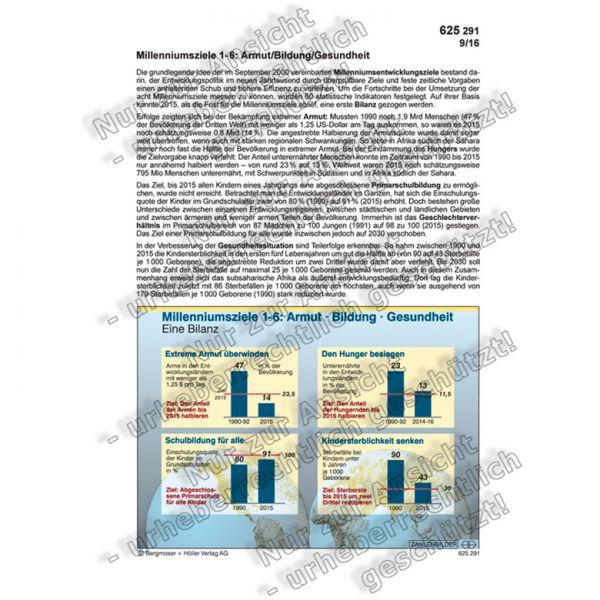 Millenniumsziele 1-6:Armut/Bildung/Gesundheit