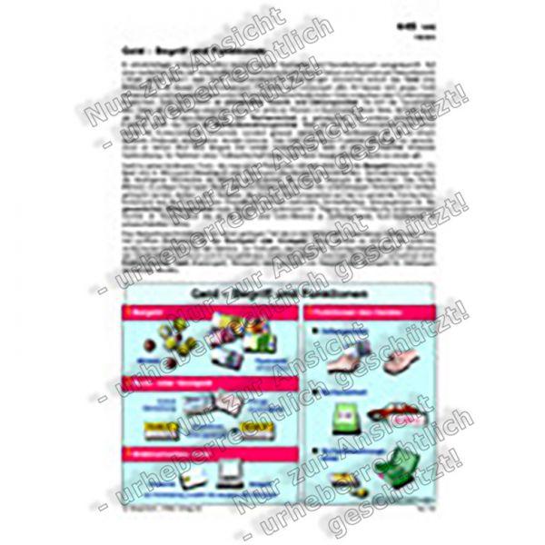 Geld - Begriff und Funktionen