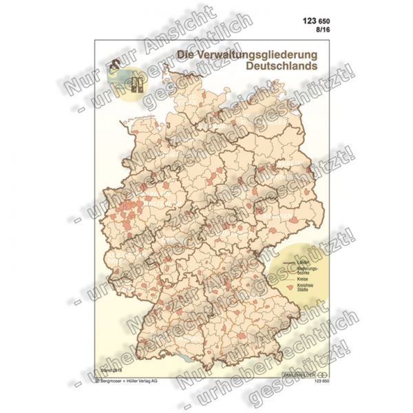 Die Verwaltungsgliederung Deutschlands (Bild)