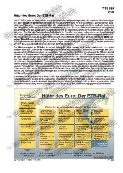 Hüter des Euro: Der EZB-Rat