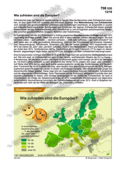 Wie zufrieden sind die Europäer?