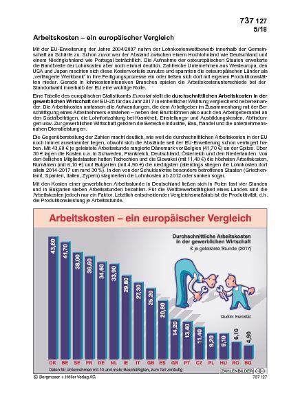 Arbeitskosten - ein europäischer Vergleich