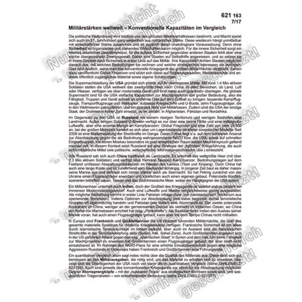 Militärstarke weltweit (Text)
